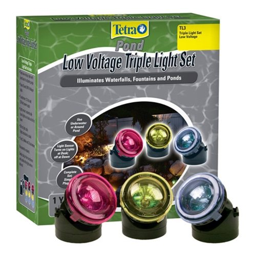 Tetra TL3 Triple Pond Light Set Multi-Color