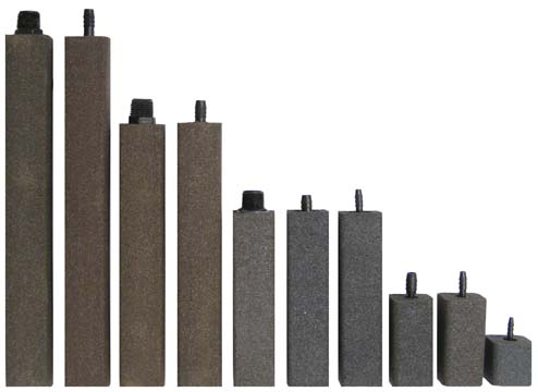"AS1237 Alumina Airstone – 1 1/2"" X 1 1/2"" X 12"" – 3/8"" barb"