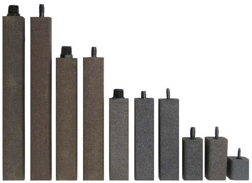 "AS637 Alumina Airstone – 1 1/2"" X 1 1/2"" X 6"" – 3/8"" barb"