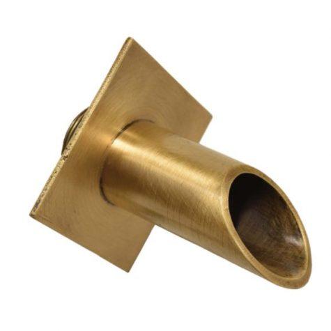 "BWS2D Vianti Falls Brass 2"" Round Scupper with diamond wall plate"