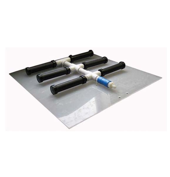 Air Diffuser Manifold - 6 Diffusers - Alumina Airstones