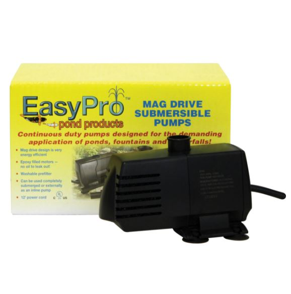 400 GPH Submersible Mag Drive Pump w/ Volcano, Waterbell Nozzle